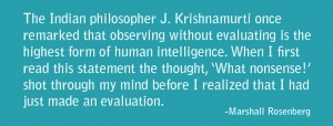 Observation Without Evaluation Quote