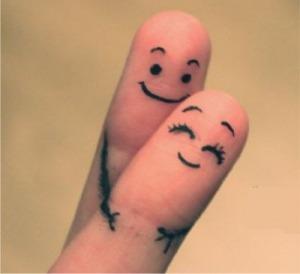 Happy Couple Fingers